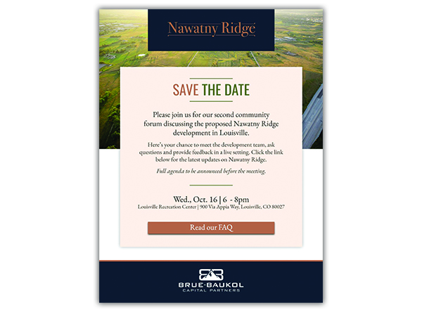 Redtail Ridge Event Invitation