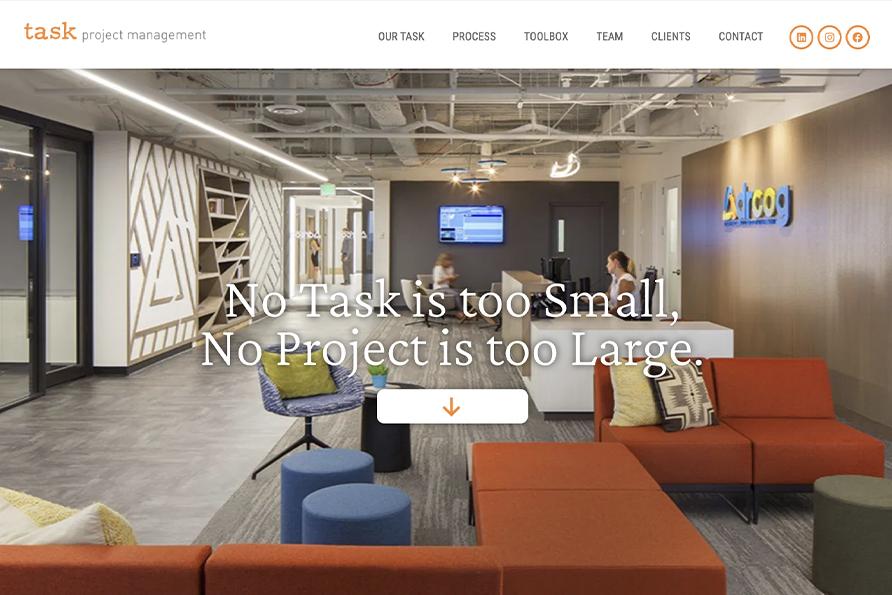 Task Project Management, a SideCar Public Relations web design client