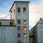 A detail photograph of the Flour Mill Lofts