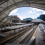 An image of the Union Station train terminal