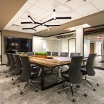 A modern office board room