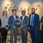 The Unico Team being presented with a LEED Platinum designation