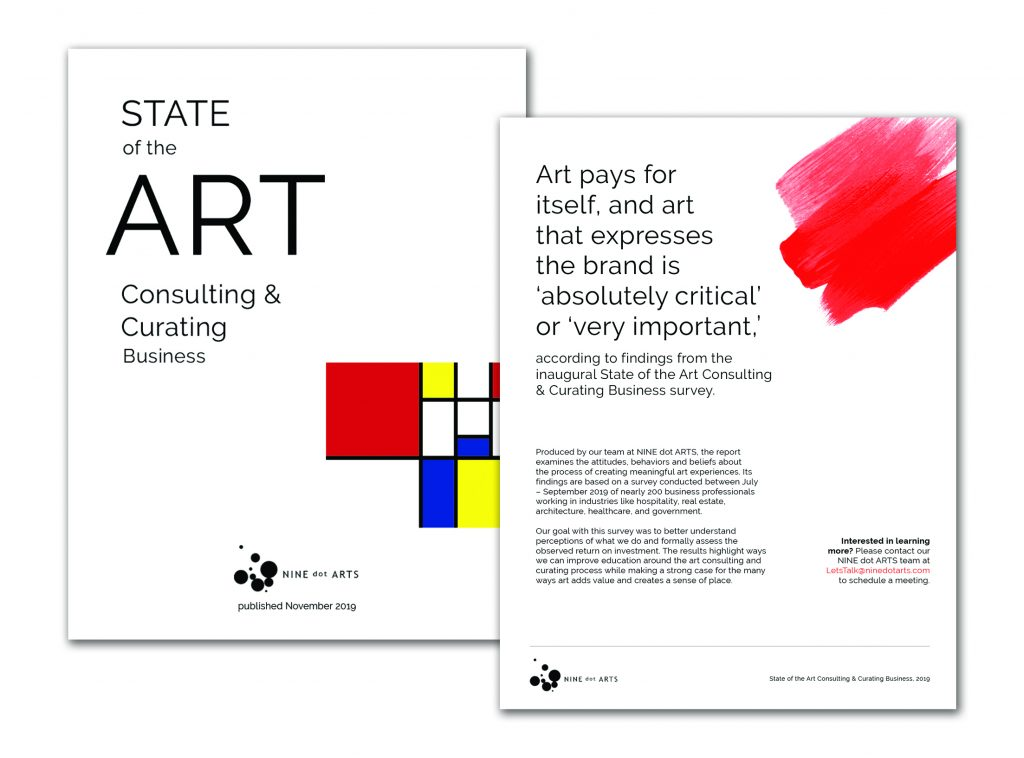 Graphic Design from SideCar Public Relations | NineDotArts State of the Art Report