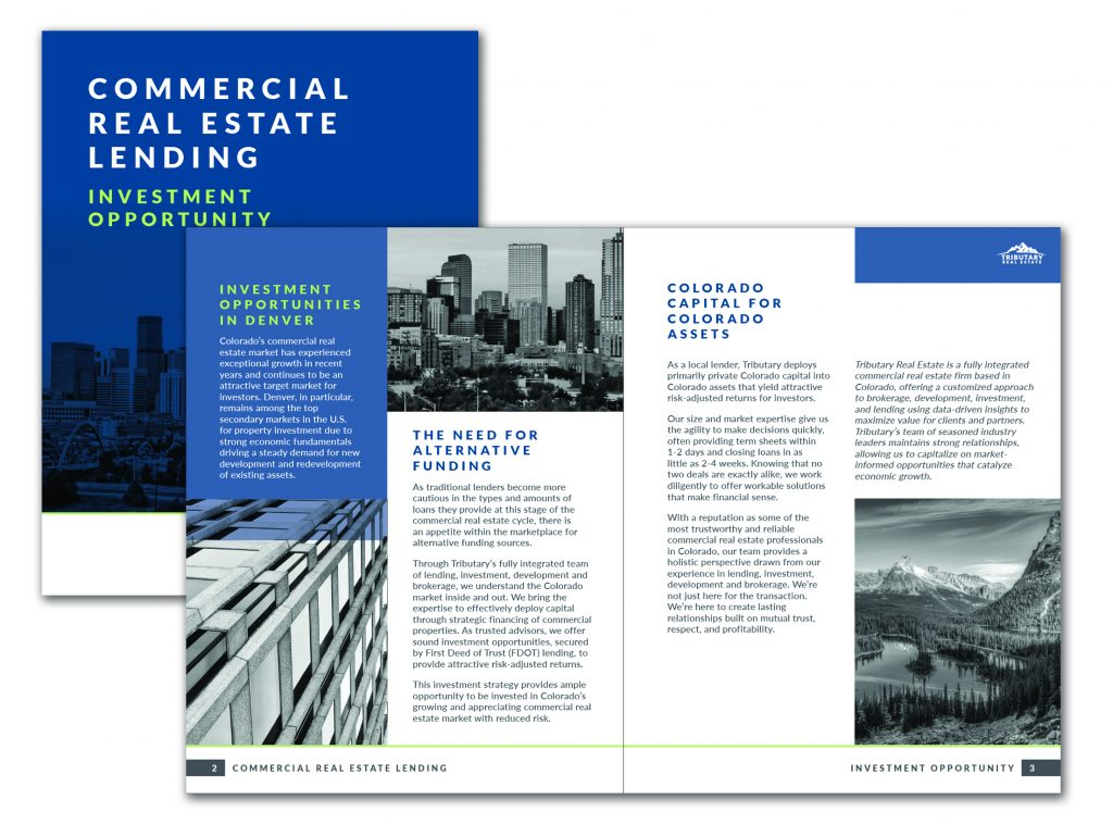 A thumbnail image of the Tributary Lending brochure