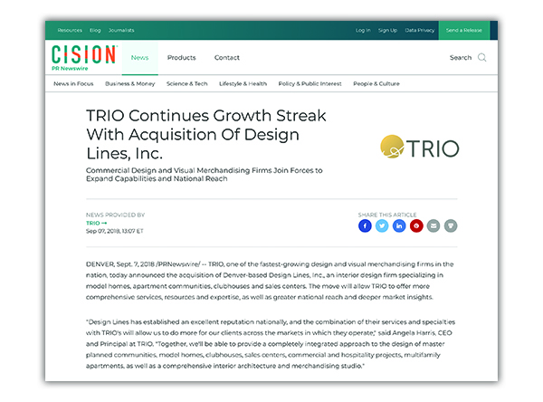 The TRIO Acquisition, from SideCar PR