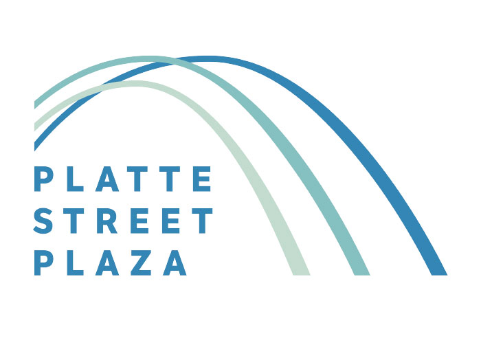 Graphic Design, logo treatments, Platte Street Plaza