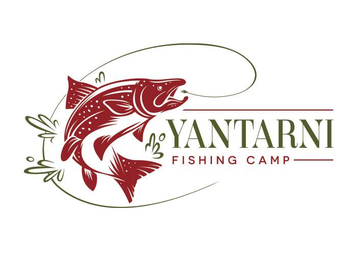 Graphic Design, logo treatments, Yantarni Fishing
