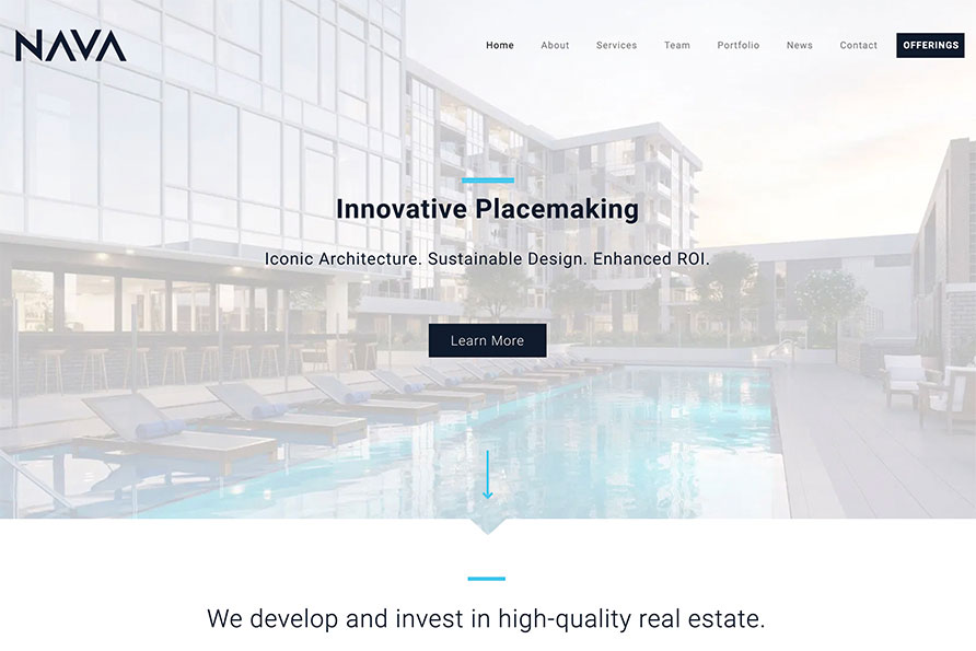 NAVA Real Estate, a website design by SideCar PR in Denver, Colorado