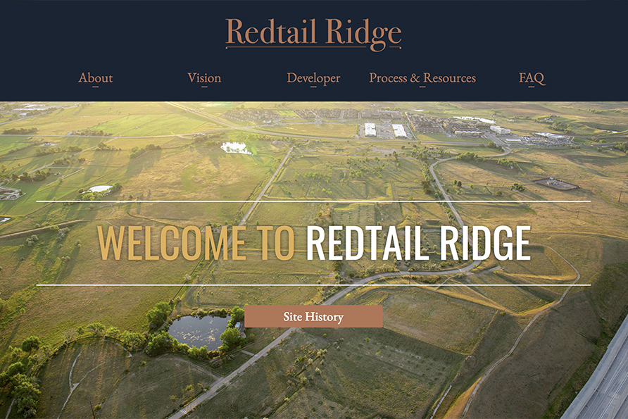 Redtail Ridge, a website design by SideCar PR
