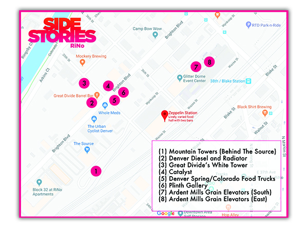 The SideStories event map, created by SideCar PR