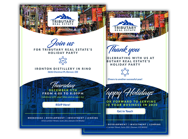 Tributary Holiday Party Event Invitation