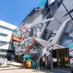 An image of a street art mural installation