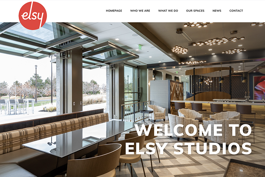 Elsy Studios, a website design client of SideCar Public Relations