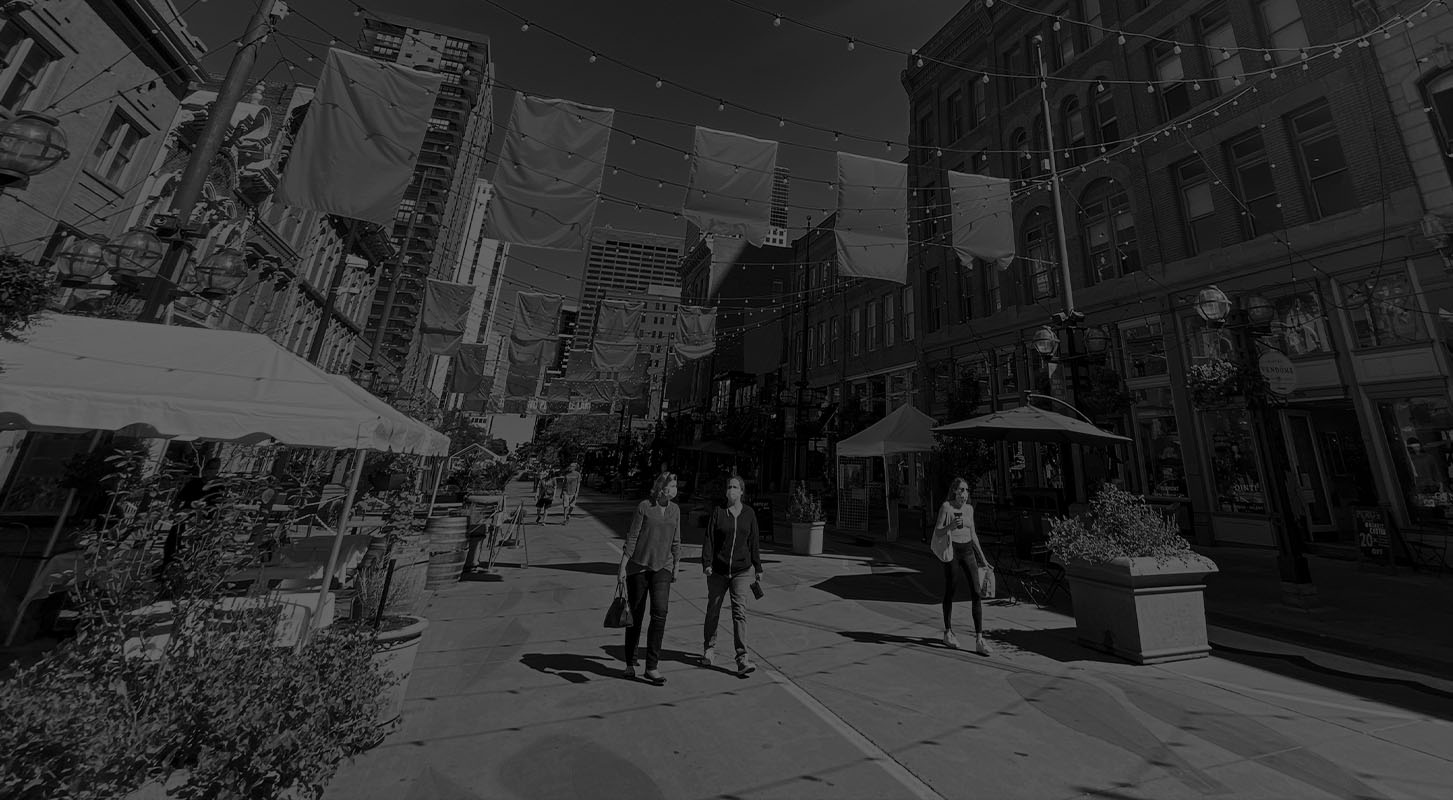 Larimer Square in Denver, Colorado, home of SideCar PR